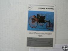 52-MERCEDES 100 JAHRE A1 BENZ-PATENT MOTORWAGEN 1886 KWARTET KAART,  CARD