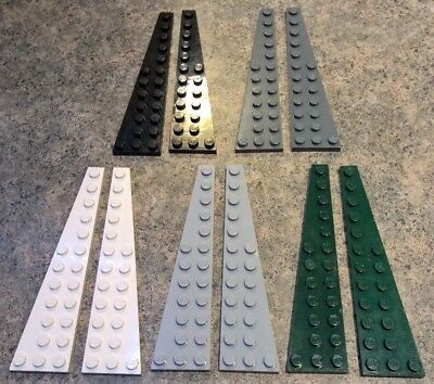 LEGO Light Bluish Gray Wedge Plate 12x3 Right Lot of 25 Parts Pieces 47398