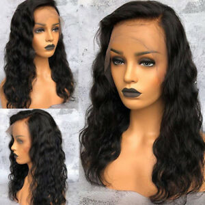 13x6 Pre-plucked Brazilian Lace front wavy wig