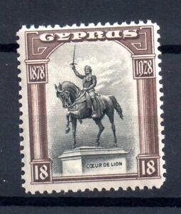 Cyprus-KGV-1928-18pi-mint-MH-SG130-WS18432