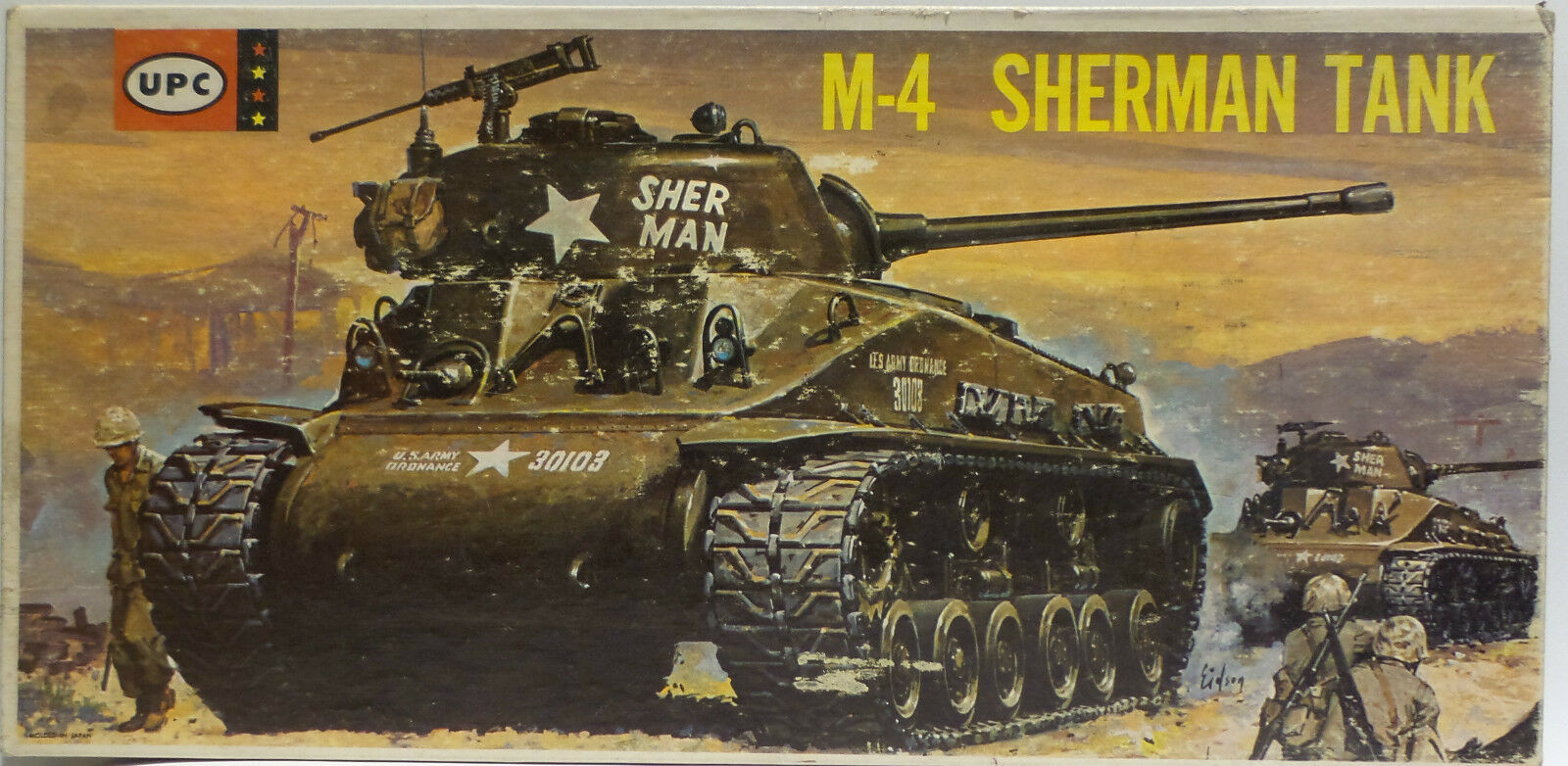 ARMY   M-4 SHERMAN TANK MODEL KIT MADE BY UPC - 1 40 SCALE