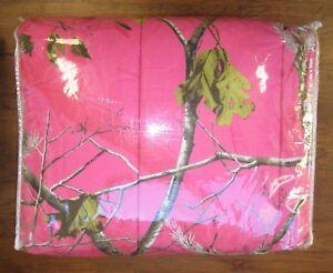 Queen Bed Size Hot Pink Realtree Apc Camo Comforter Set