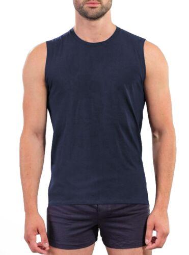 Mens /%100 Soft Cotton Plain Sleeveless T Shirt Tank Top Vest S-3XL