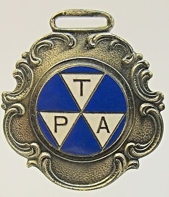 Circa 1900 Tpa Travelers Protective Association Enamel Watch Fob Parts, Tools & Guides Fast Color