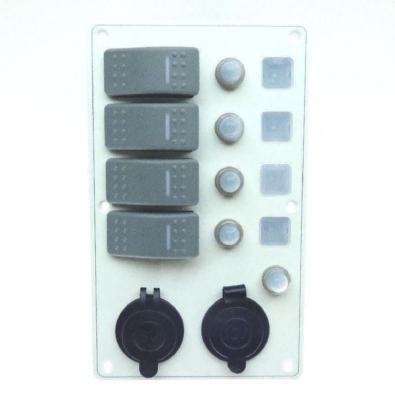 Auto Wasserdichte Schalttafel  Aluminium Schaltertafel Aluminium  Panel weiß Stiefel Caravan 61776a