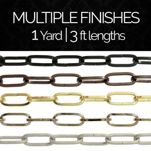 1 yard or 3 ft Solid Steel Decorative Flat Standard Link Light Chain #62
