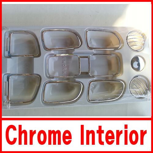 Chrome Interior Kit Trim 10pcs for 2004 2005 2006 2007 Kia New Picanto