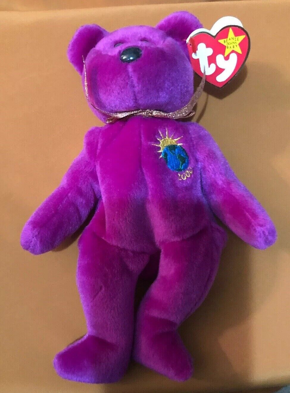 TY Beanie Baby Baby Baby - MILLENNIUM the Bear (8.5 inch) - MWMTs Stuffed Animal Toy f02ef0