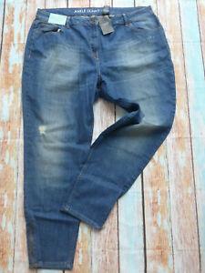Next-Jeans-Ankle-Skinny-Jeans-Pants-Blue-Ladies-Size-48-plus-Size-777