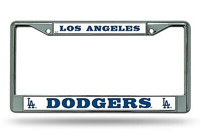 Los Angeles Dodgers Bold Chrome Frame Metal License Plate