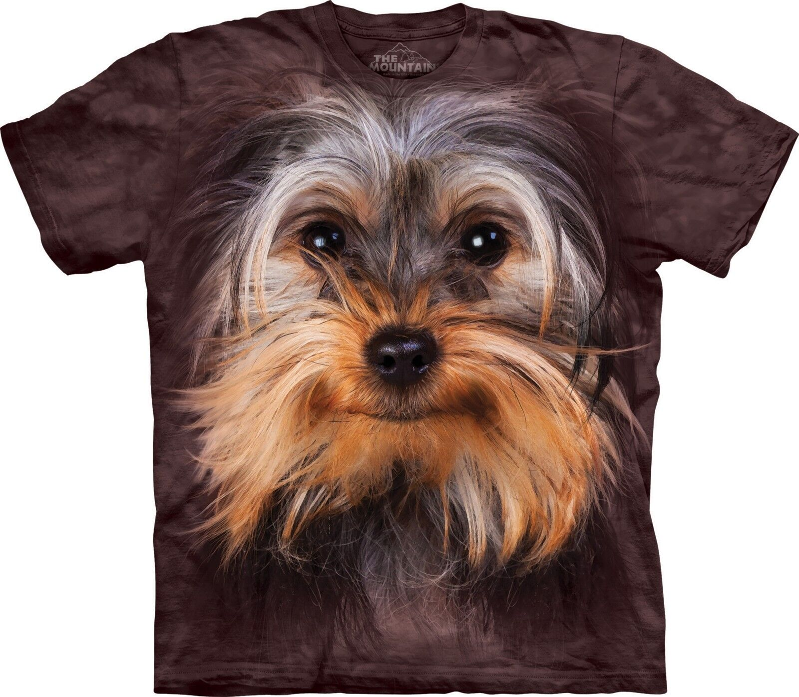 Yorkshire Terrier Face Dogs T Shirt Adult Unisex Mountain