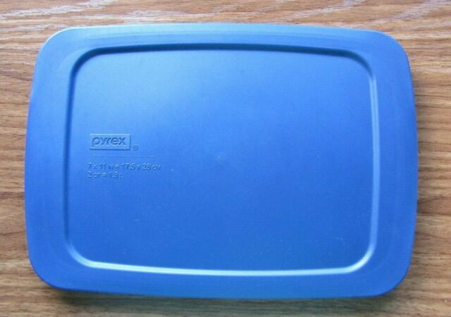 "2 Each Blue Pyrex Lids Fits 7/"" x 11/"" Dish NEW"