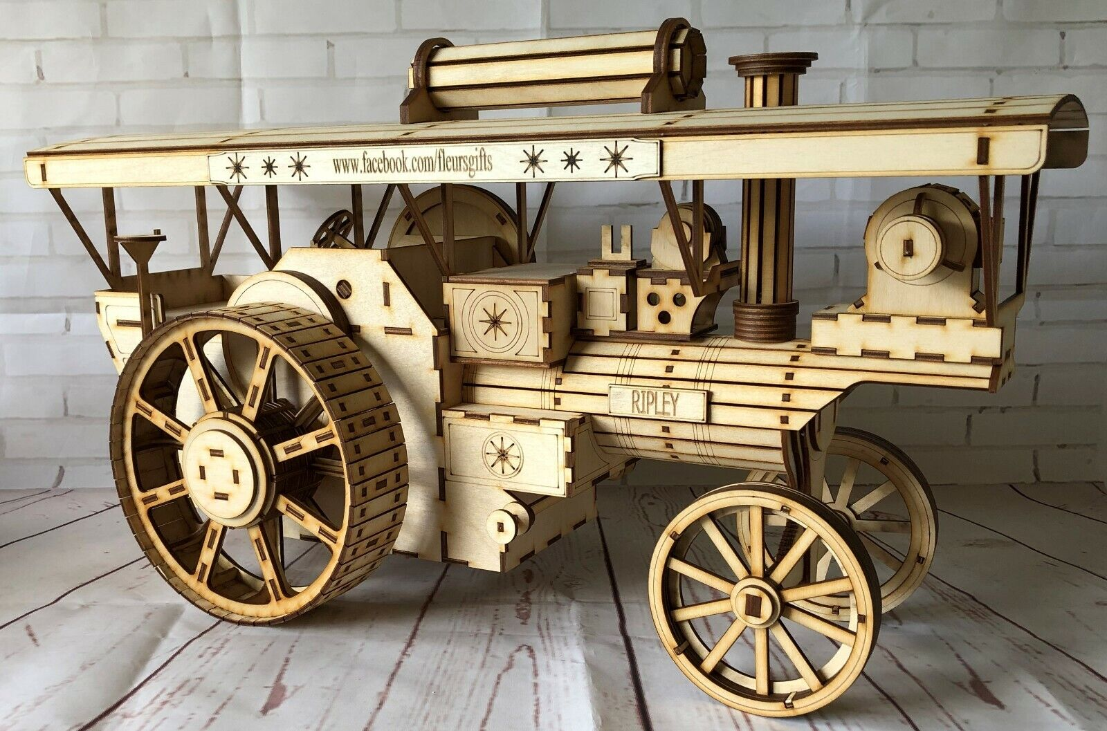 Laser cut wood wooden Model personalised Midwest Farmer Engine 3d puzzle  Kit