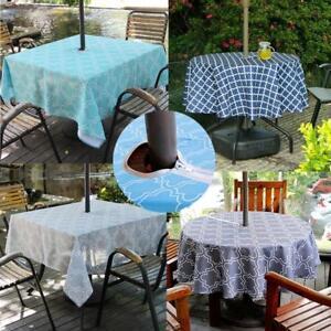 Outdoor Patio Tablecloth With Umbrella