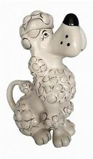 NEW BLUE SKY TOY POODLE IVORY,BONE,BLACK,CERAMIC TEAPOT,TEA,COFFEE POT 15717