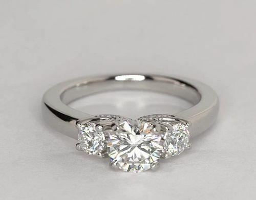 2.40 Carat Round Cut Diamond Engagement Wedding Bridal Ring 14K White Gold Over
