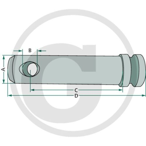 Oberlenkerbolzen/_Ø19mm/_Nutzlänge 65mm/_Sicherungsbolzen/_Steckbolzen/_Heckhydraulik