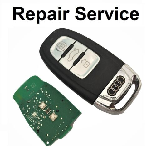 For AUDI A4 A5 A6 A7 A8 Q3 Q5 3 Button Smart Remote Key Fob Repair Service