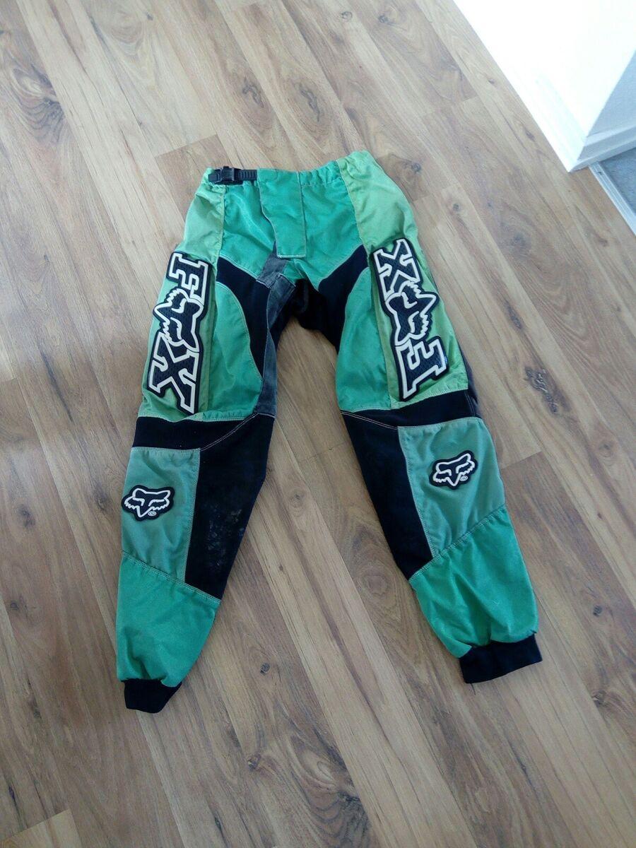 Bukser, Fox, str. 12 år, Grønsort, Cross bukser. Brugt