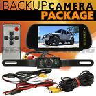 """7"""" TFT LCD Monitor Car Rear View System Backup Reverse Camera Night Vision Kit"""