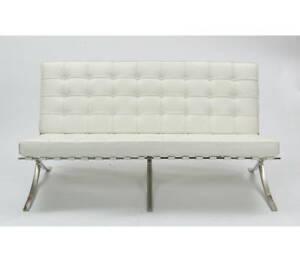 Modern classic Mid century design sofa in genuine Ivory ...