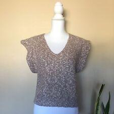 Vintage Diane von Furstenberg sleeveless v-neck sweater, Beige, Size L
