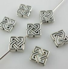 30pcs Tibetan silver square Spacer Beads 2*7mm Fit Jewelry Making etc.