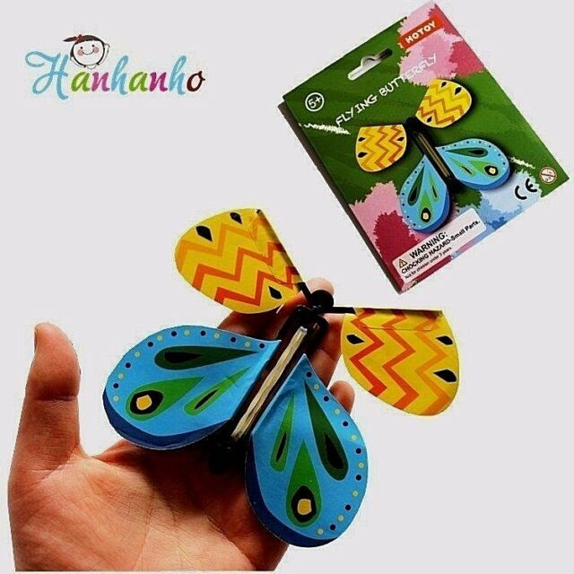 5pcs The Best Gift Card Magic Flying Butterfly Surprise