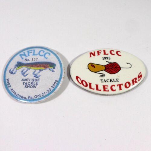 NFLCC antique Tackle Show 2006 Allentown PA & 1995 Tackle collectionneurs PINBACKS