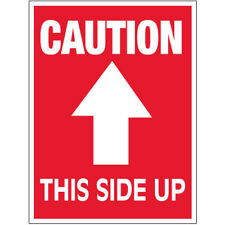 3 X 4 Caution This Side Up Arrow Labels 500roll
