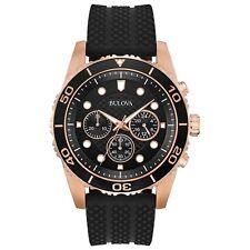 Bulova Mens Chronograph Sport Black Silicone Strap Watch 43mm a Macys