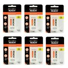 6 PACK Reach Dentotape Unflavored Extra Thick Waxed Tape 100 Yards. Dental Floss