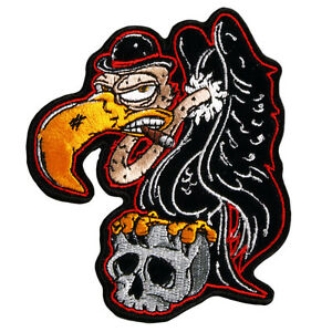BUZZARD-VULTURE-WITH-SKULL-MOTORCYCLE-JACKET-LEATHER-VEST-BIKER-PATCH