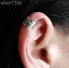 NEW VINTAGE SILVER EAR CUFF UPPER HELIX CARTILAGE CLIP-ON EARRING ROCK GOTH FAB