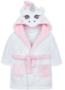 ad3b606ca Image is loading Personalised-Baby-Girls-Unicorn-Dressing-Gown-Robe-Fluffy-