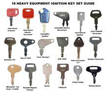 18 Heavy Construction Equipment Ignition Key Set Highest Quality Cat Jd Komatsu