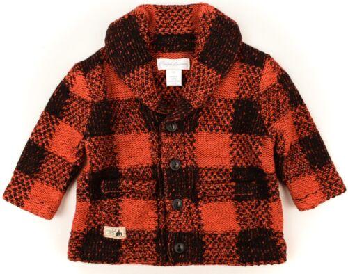 RALPH LAUREN Baby Boys/' Red Shawl Neck Wool Blend Cardigan size 3 months