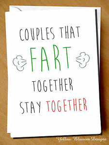 Greeting card fart together stay comical comedy humour witty joke image is loading greeting card fart together stay comical comedy humour m4hsunfo
