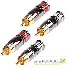 HICON HI-CM07 Cinch Stecker weiß + rot 4er Set HIGH END RCA | HI-CM07 NTL + RED