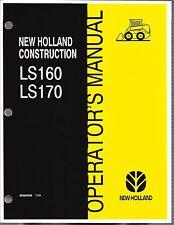 New Holland Ls160 Ls170 Skid Loader Operators Manual 86585958