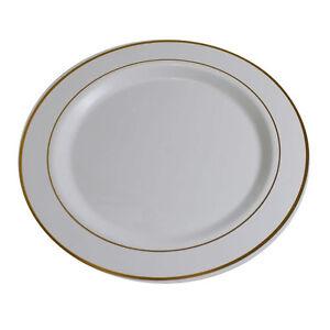 Image is loading 40-Disposable-Heavy-Plastic-Dinnerware-Plate-Dinner-Dessert -  sc 1 st  eBay & 40 Disposable Heavy Plastic Dinnerware Plate Dinner/Dessert Plate ...