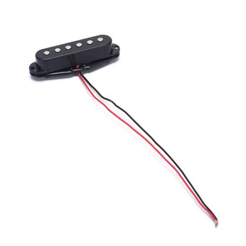 1pc Black Single Coil Sound Pickup for 6 Strings Electric Guitar Harmonious  —YJ