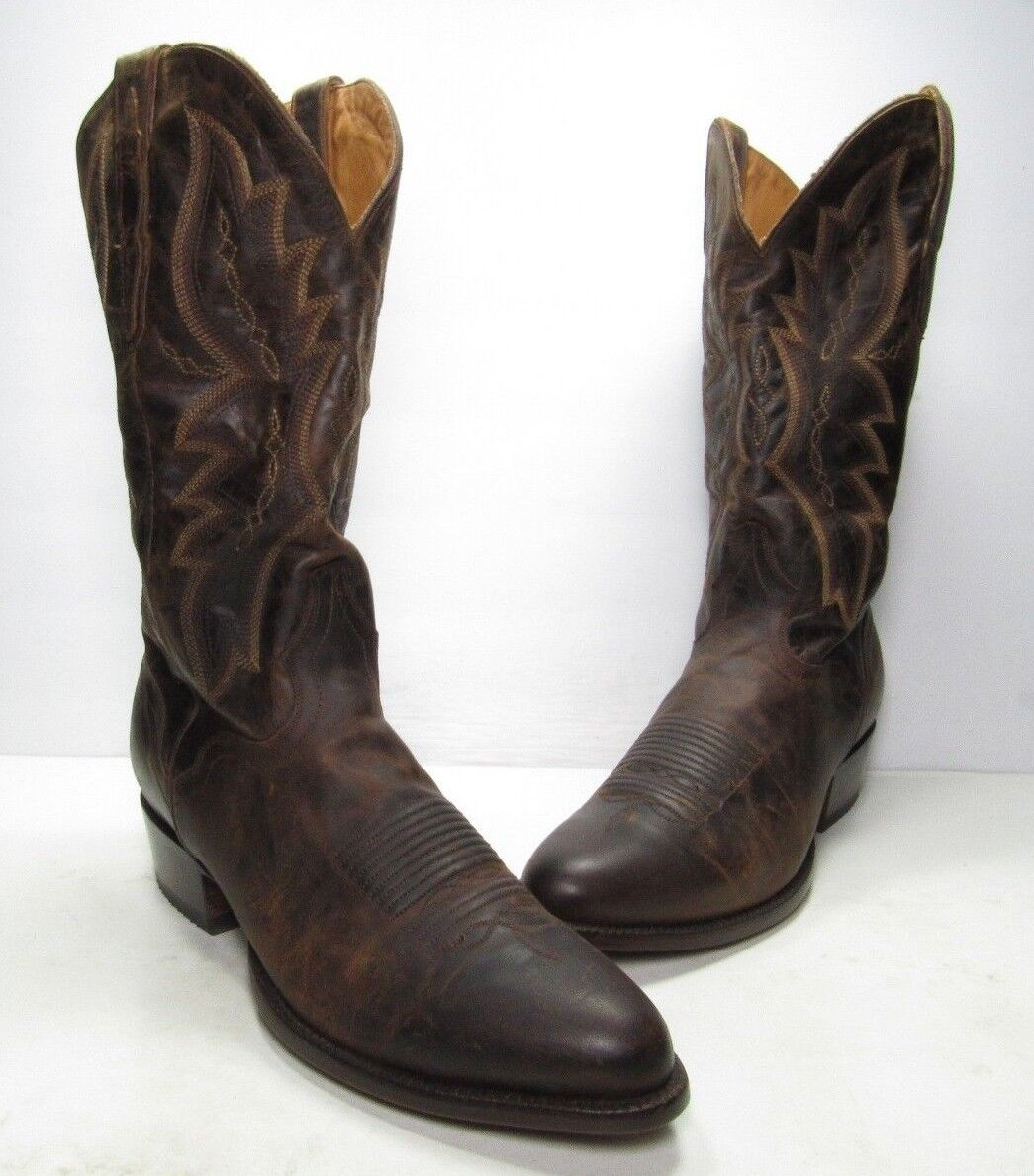 Dorado Envejecido Cabra Occidental botas El, Para Hombre Talla  10 medio (B481)