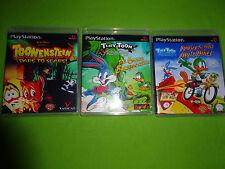 Empty Cases!  Toonenstein Dare To Scare Tiny Toon Trilogy Adventures PS1 PS2 PS3