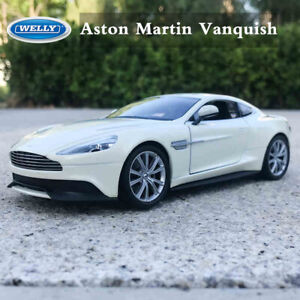 WELLY-1-24-Diecast-Alloy-Car-Model-Toys-Aston-Martin-Vanquish-White-New-in-Box