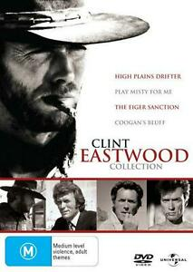 DVD-CLINT-EASTWOOD-COLLECTION-4-MOVIES-COOGAN-039-S-BLUFF-PLAY-MISTY-FOR-ME-MORE