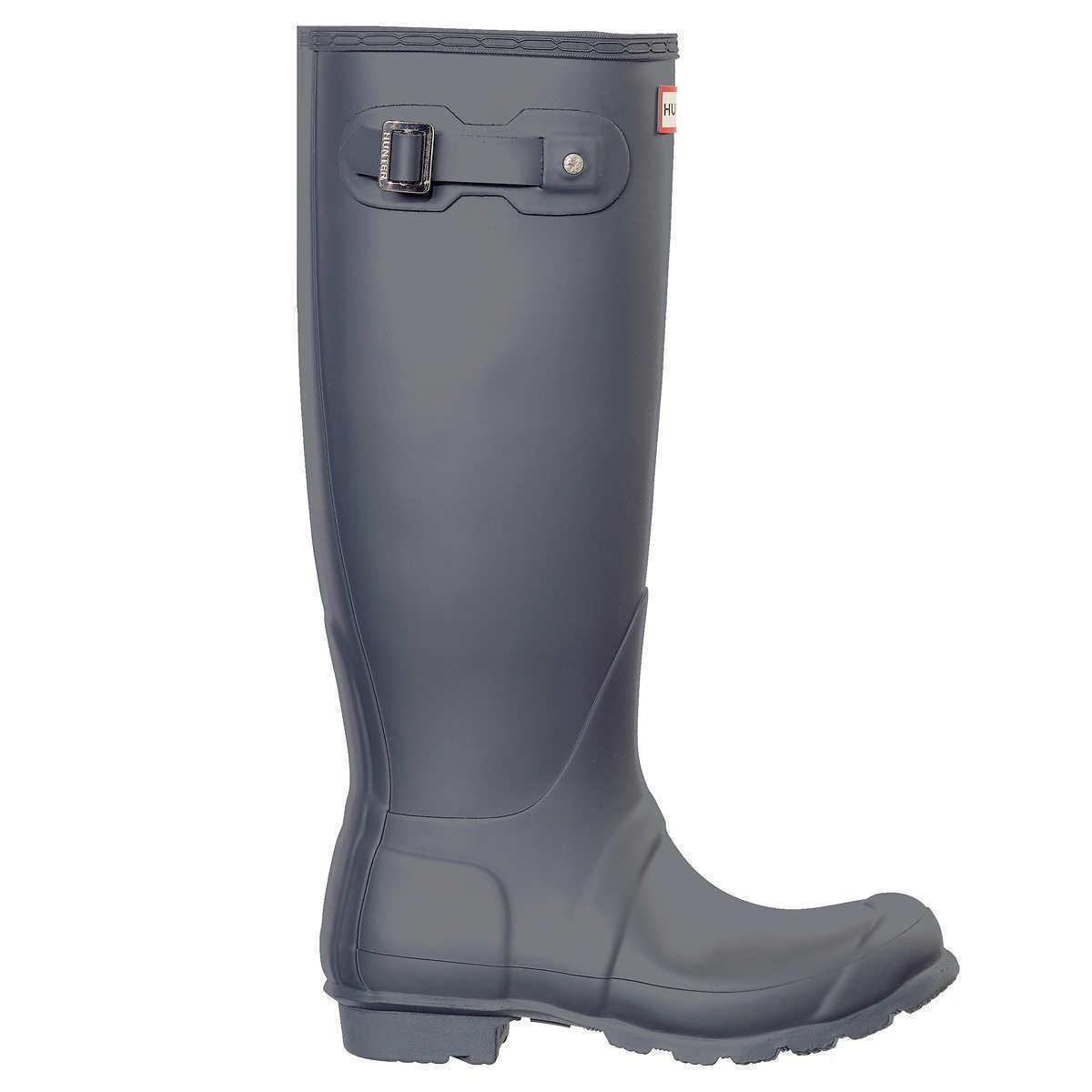 NEW Donna HUNTER Tall Tall HUNTER Original RAIN Waterproof  BOOTS Dark Slate Matte  Size 6 90f077