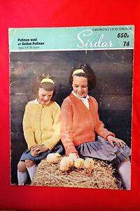 Vintage-Knitting-Pattern-Sirdar-PullmanWool-girls-cardi-No-650b-6-8-10-years