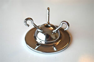 ART DECO STYLE CHROME 3 HOOK CEILING LIGHT HOOK ROSE FLYCATCHER CHAIN HOOK G5