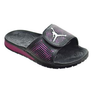 088f9e25d83c NEW Nike Girls Youth Hydro 5 GP Sandals Slides 820263 009 Black Pink ...